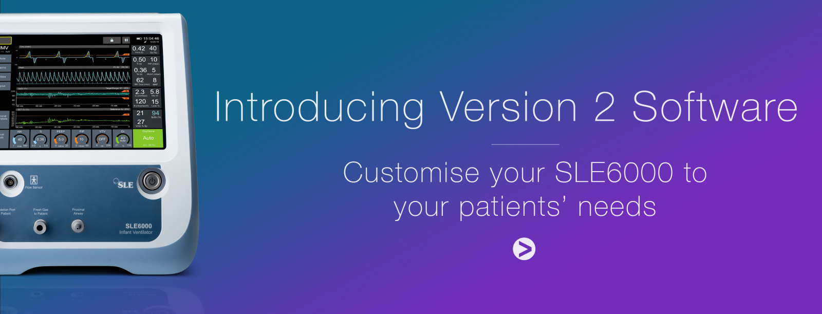 Customise your SLE6000 to your patients' needs!